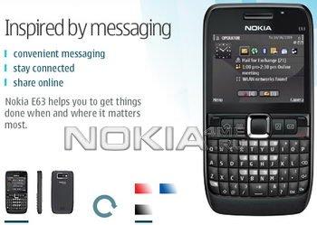 Смартфон Nokia E63: Теперь в черном