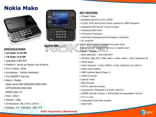 Финская новинка для AT&T - Смартфон Nokia Mako
