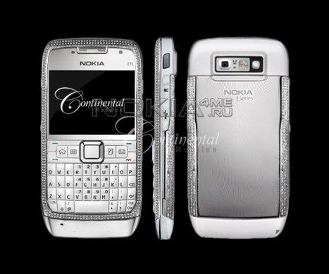 Nokia E71 в бриллиантовом корпусе