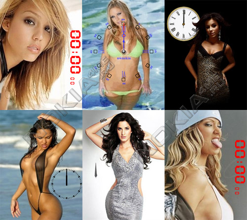 Famous Girls - Flash Clocks 1.1