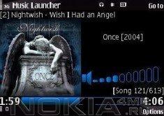 Music Launcher - v.0.99 - аудио плеер для Symbian 9