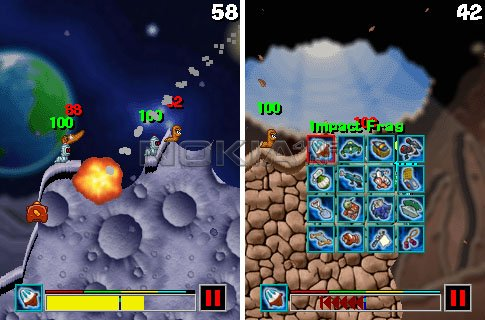 Worms 2008: A Space Oddity - Игра для NOKIA Symbian 9