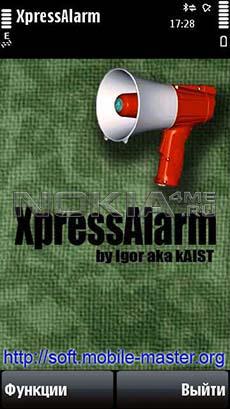 XpressAlarm - Программа для Nokia 5800 и N97