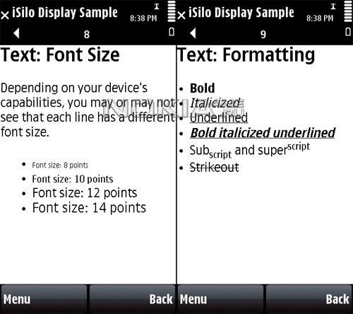 iSilo - Программа для чтения электронных книг на Symbian