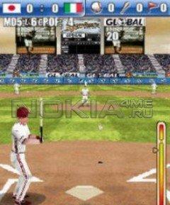 Global baseball 3D - Игра для Symbain 9.1 - 9.3
