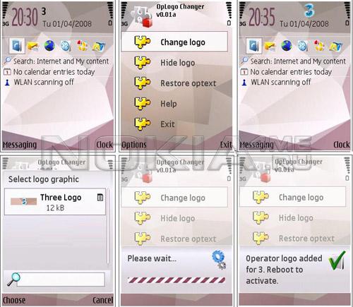 Oplogo Changer - установка и удаление логотипов оператора на Symbian OS 9.x