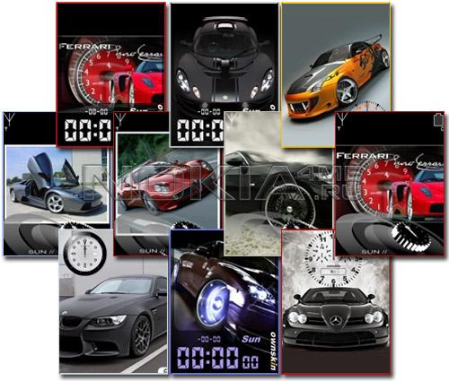 Cars - Flash Clocks 240x320 FL 1.1