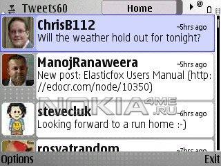 Tweets60 - Twitter клиент для Symbian 9