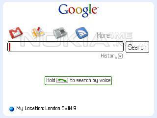 GoogleSearch - Программа для Symbian