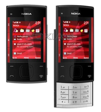 Музыкальный слайдер Nokia Х3 уже в продаже