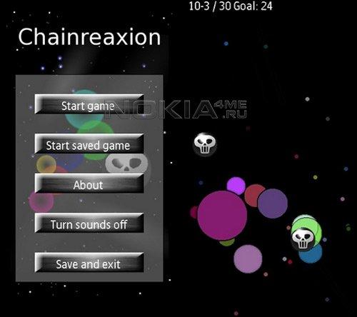 Chainreaxion v1.00 - Sis игра для Symbian 9.4