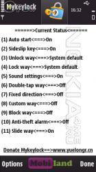 Mykeylock - блокировка/разблокировка сенсорных смартфонов