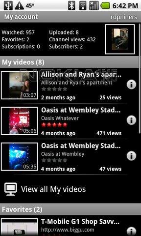 YouTube for Mobile v.2.4.4 - Просмотр видео с YouTube на смартфоне