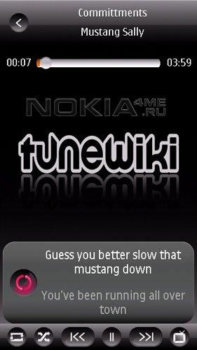 TuneWiki - Самый многофункциональный плеер для Symbian 9.4