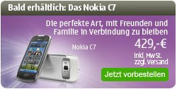Nokia C7 доступна к предзаказу. Пока только в Германии и Испании