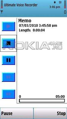 Ultimate Voice Recorder - Отличный диктофон для Symbian 9