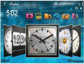 Bubue DeskClock - Часы на рабочий стол Symbian 9.х