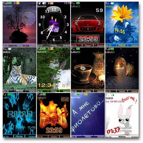 Wonderful theme for Nokia S40. Pack 15