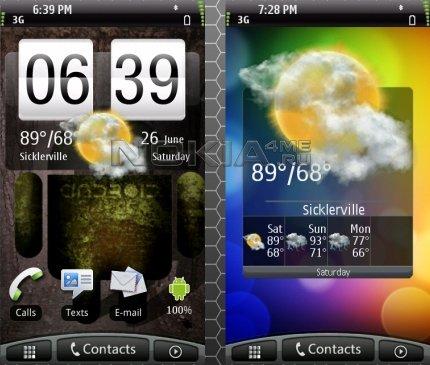 HTC Desire - скин для SPB MobileShell
