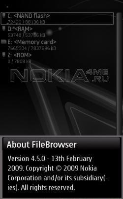 Nokia FileBrowser - Отличный файловый менеджер для Nokia