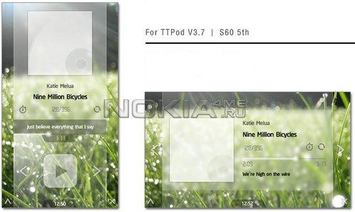 Sunshine Meadow - скин для плеера TTpod