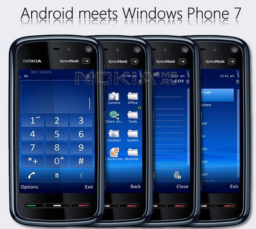 Android meets Windows Phone 7 Release - скин для SPB MobileShell