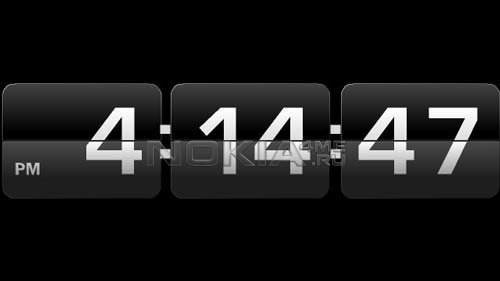Retro Desk Clock - Скринсейвер-заставка для Symbian S60v5