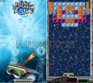 Ball Rush Aqua Touch - sis игра для Symbian 9.1, 9.2, 9.3, 9.4
