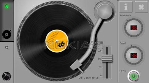 DJ Turntable - Диджейский пульт для Symbian^3