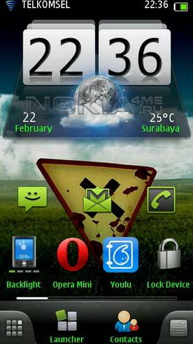 Clock аnd Weather Mod - часы и погода для SPB MobileShell