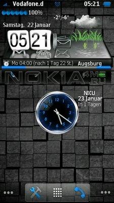 Blue N Black Touch - скин для SPB MobileShell