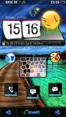 Humaru - часы и погода для SPB MobileShell