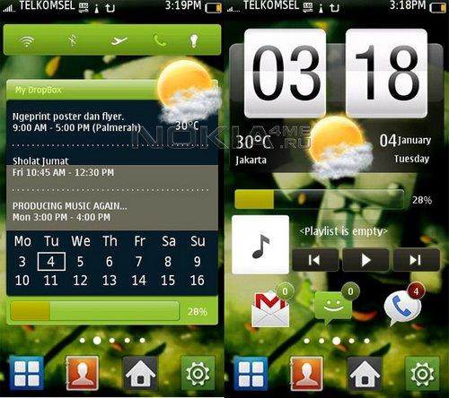 HTC Galaxy - Свежий скин для SPB Mobile Shell