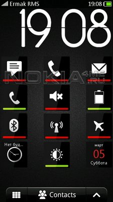 Black Glass 1.1 - скин для SPB MobileShell