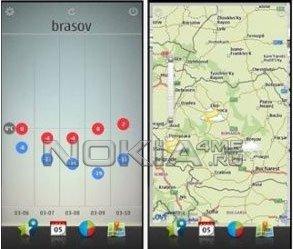 Flake - Прогноз погоды для Symbian^3