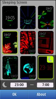 Nokia Sleeping Screen - Скринсейвер для Symbian^3