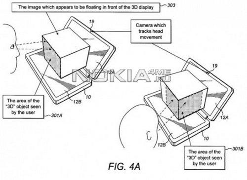 Nokia запатентовала коммуникатор с 3D-дисплеем