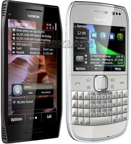 Старт продаж новых смартфонов на Symbian Anna — X7 и E6