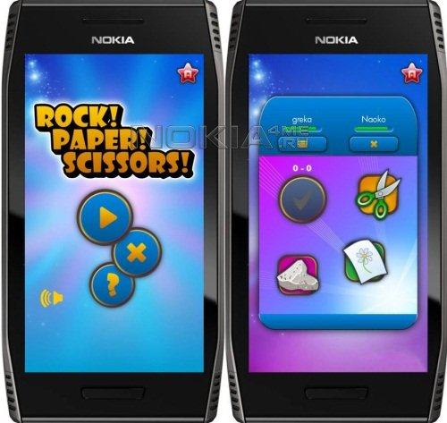 Rock Paper Scissors - Игра для Symbian^3