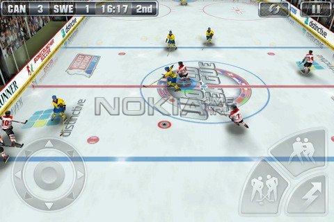 Hockey Nations 2011 - Игра для Symbian^3