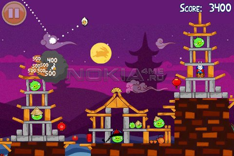 Angry Birds Seasons: Moon Festival - Игра для Symbian^3