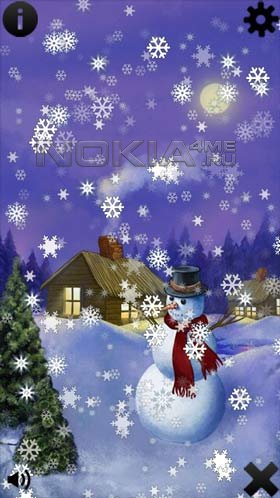 Christmas Snow - Приложение для Symbian^3