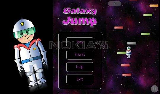 Galaxy Jump - Игра для Symbian^3