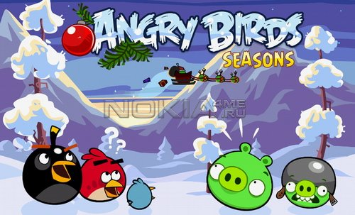 Angry Birds Seasons: Wreck The Halls - Игра для Symbian^3