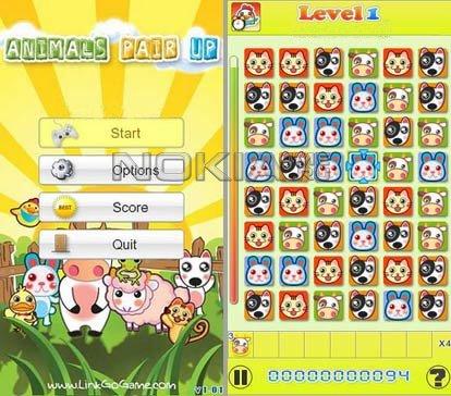 Animals Pair Up - Игра для Symbian 9.4, Symbian^3