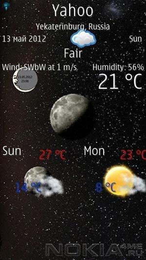 UniWeather - Погода для Symbian