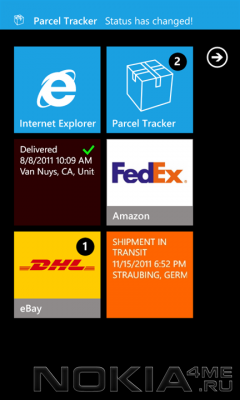 Parcel Tracker - Отслеживаем посылки на Windows Phone 7