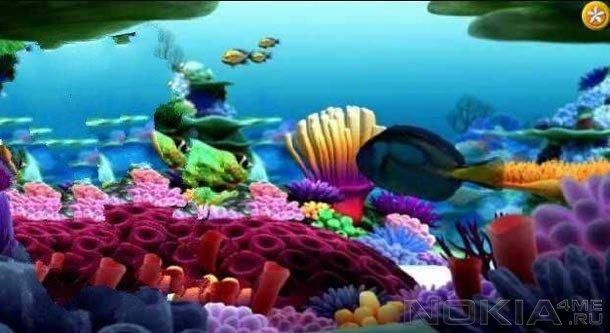 AquaNazilla - Рыбки на экране Symbian смартфона