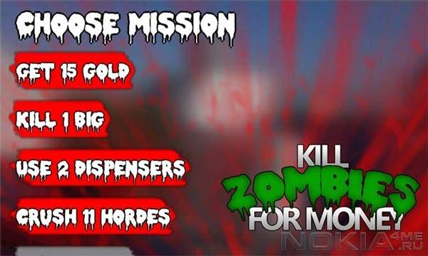 Kill Zombies For Money - Игра для Windows Phone 7.5 и выше