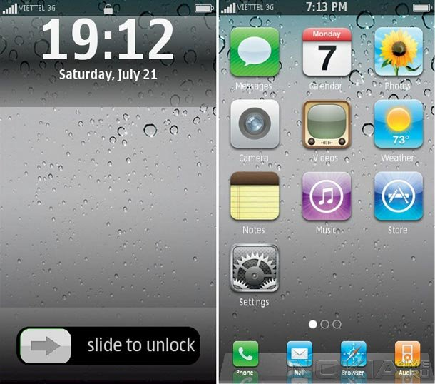 Fake Phone - Интерфейс на Symbian как на iPhone